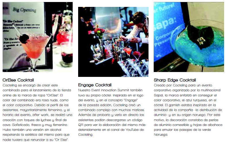 Customized cocktails by Cocteling